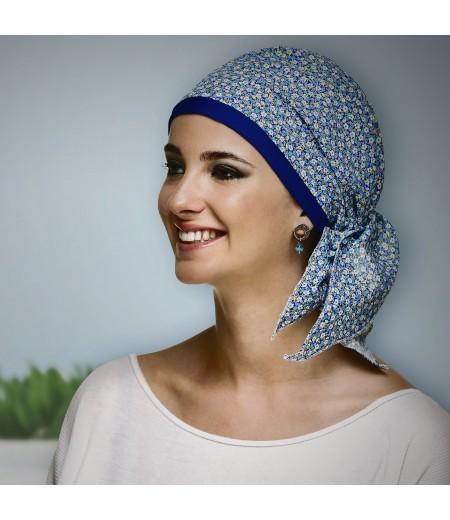 Pañuelo Oncológico Paris Azul