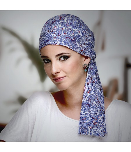 Pañuelo Oncológico Cashmere Blue