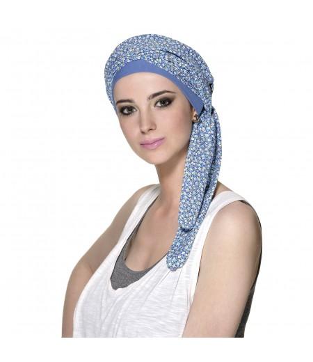 Pañuelo Oncológico Elastic Azul